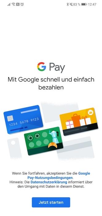 Google Pay Anmeldung