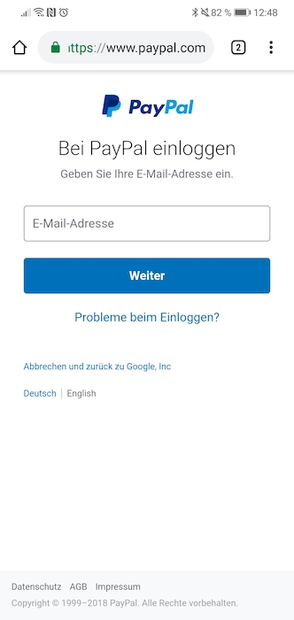 Google Pay PayPal Anmeldung