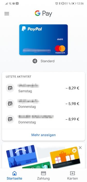 Google Pay Zahlungen
