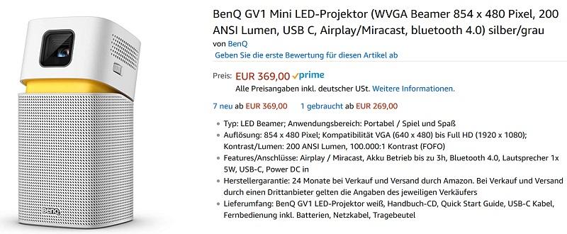BenQ GV1 Preis
