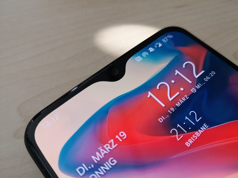 OnePlus 6T Display und Notch