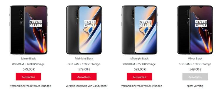 OnePlus 6T Preis