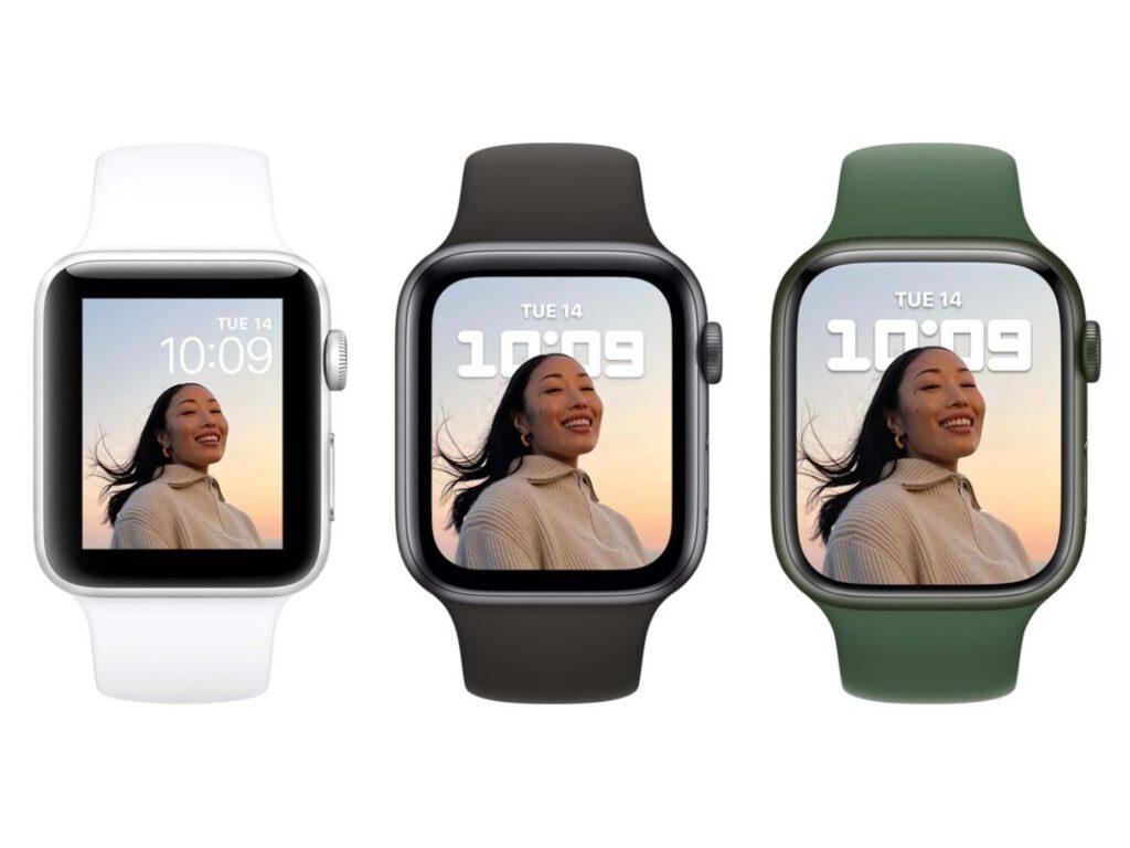 Apple Watch Vergleich Series 3, Series 6, Series 7
